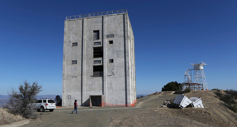. 2013: The main radar tower building at Mount Umunhum in Santa Clara County, Calif.   (Jim Gensheimer/Bay Area News Group)