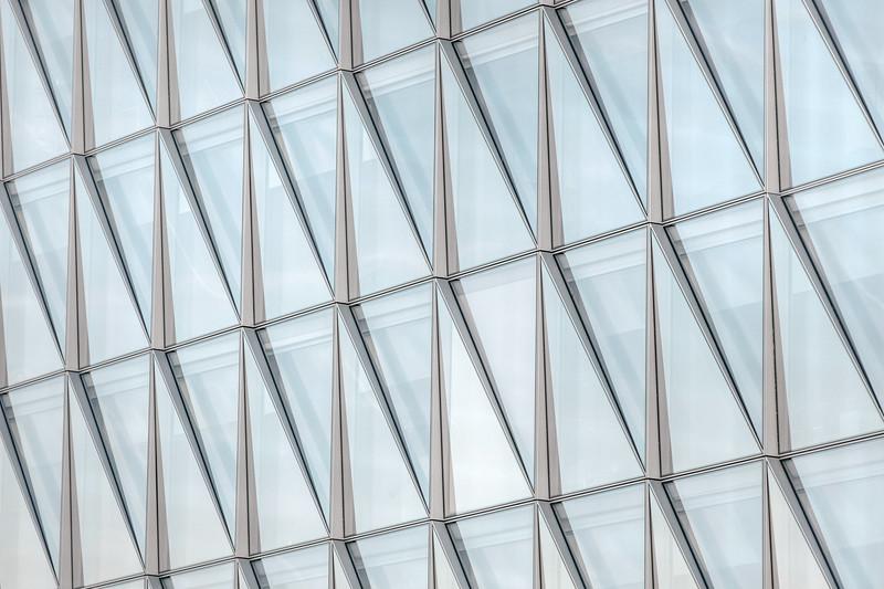 Detail of the JTI headquarter building in Geneva