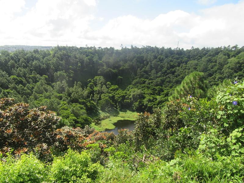 044_Curepipe. Trou aux Cerfs. 600,000 years old. Cratère volcanique aujourd'hui éteint.JPG