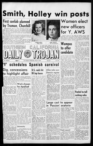 Daily Trojan, Vol. 36, No. 123, May 16, 1945