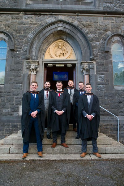 01/11/2018. Waterford Institute of Technology (WIT) Conferring Ceremonies 2018. Pictured are Patrick Lyng The Rower, Kilkenny, Gary Drohan Dunhill, Thomas French Bandon, Dayne Fitzgerald Carlow, Craig Dowling Kilmacow and Liam Carey Ferrybank . Picture: Patrick Browne