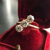 1.38ctw Antique Old European Cut Diamond 3-Stone Ring 21
