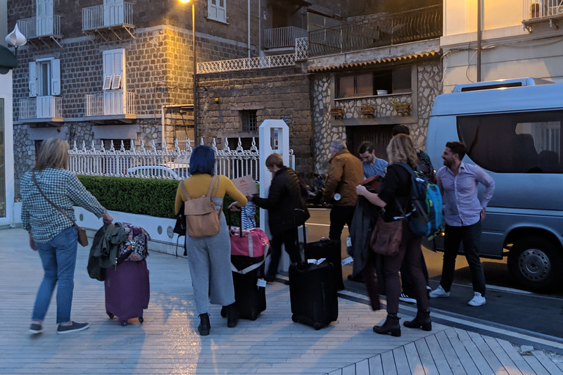 Arrival at Hotel Belair in Sorrento