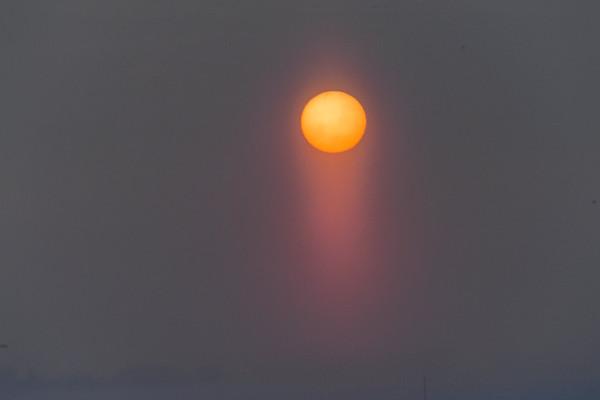 3-8-18 *Sunset In The Fog