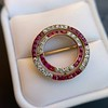 2.90ctw French Ruby and Diamond Brooch, by La Cloche Fres of Paris 23