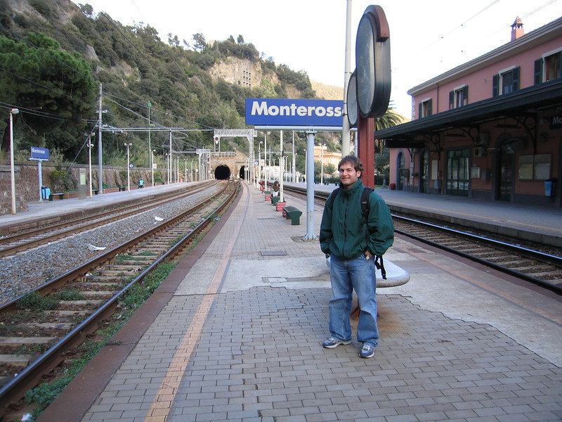 Jon Deutsch at the Monterosso train station.