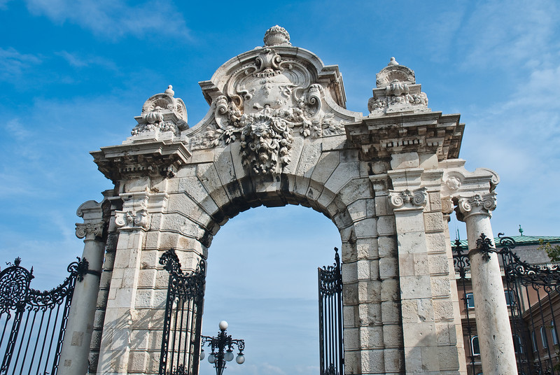 One of the neat looking gates at the entrance to the Royal Palace.