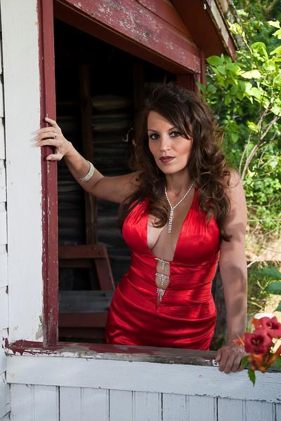 Angela - red dress series