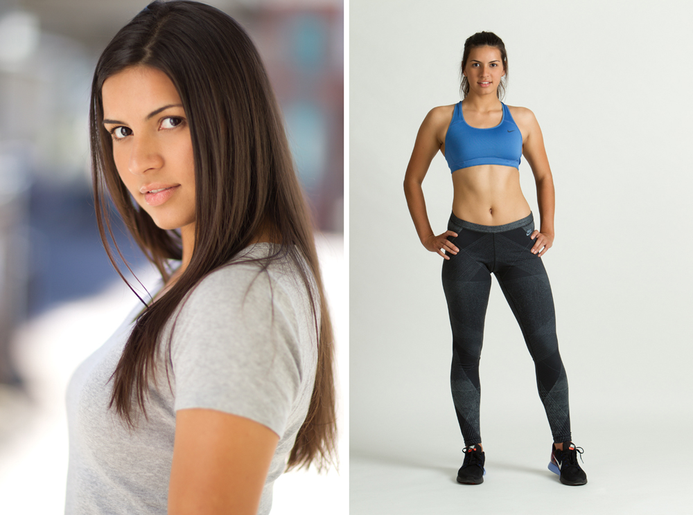 headshot and studio fitness look