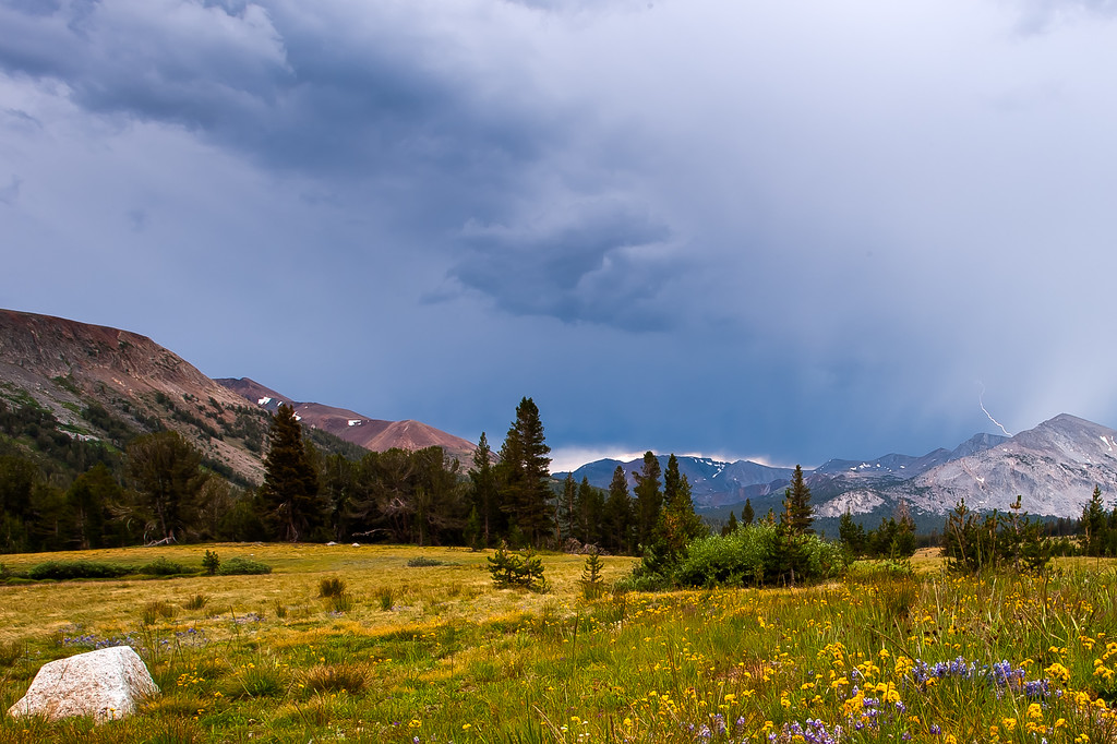 Thunderstorm over Yosemite, Yosemite National Park, CA