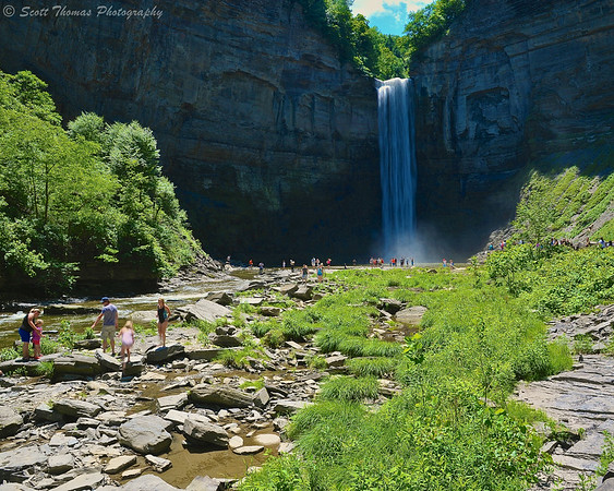 Taughannock Falls at 1:19PM on a summer's day.