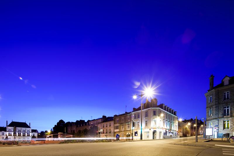 Republic square, town of Vannes, departament de Morbihan, Brittany, France