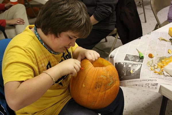 Pumpkin Carving at Erwin Presbyterian - October 2012