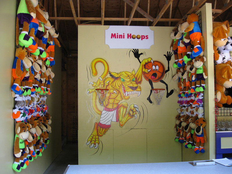 There was a new Mini Hoops game stand.