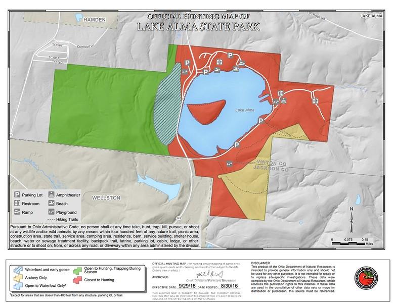 Lake Alma State Park (Hunting Map)