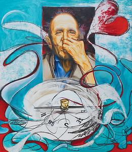 """Caro Mio…Sending Love"" (oil & acrylic on board) by El Costell"