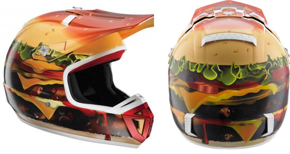 SHIFT Racing Double Bypass Cheeseburger Dirt Helmet