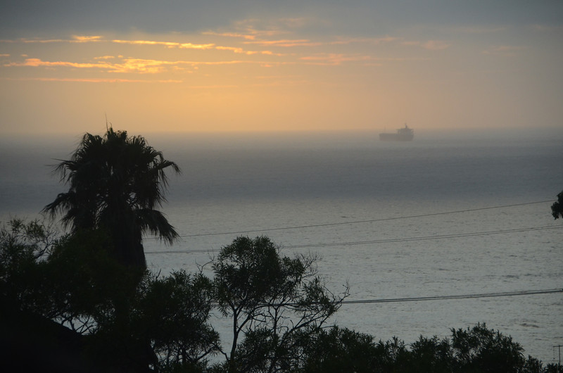 We arrived in the dark for our five nights. This is sunrise on the first morning, looking over the ocean and in their garden (12)