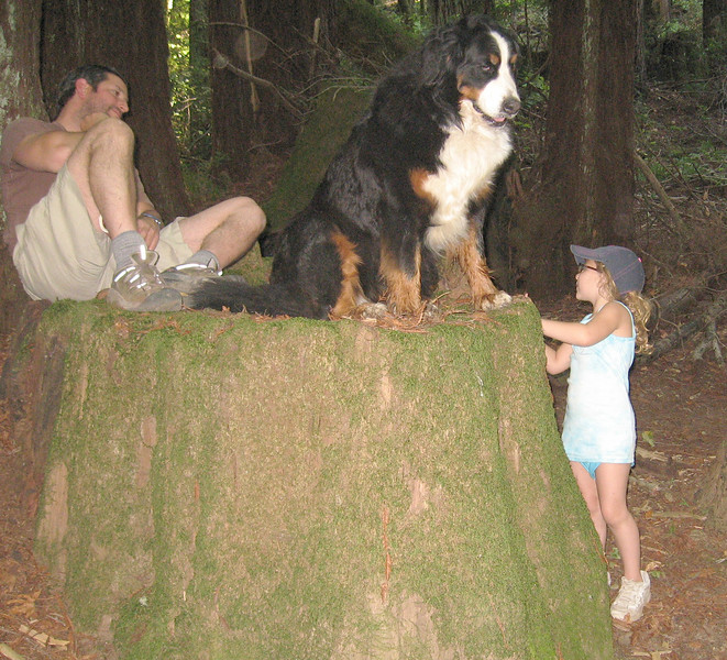 Rebecca with her boyfriend Jason and his dog in Baltimore Canyon