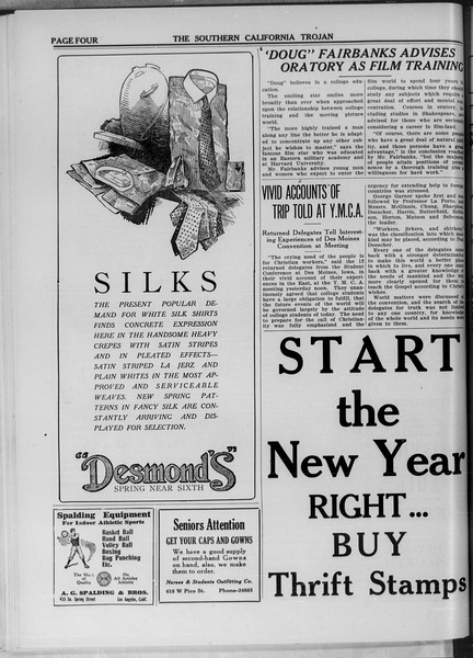 The Southern California Trojan, Vol. 11, No. 42, January 13, 1920