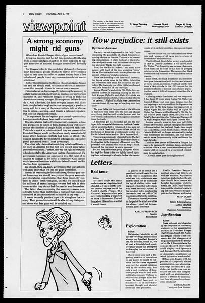 Daily Trojan, Vol. 90, No. 39, April 02, 1981