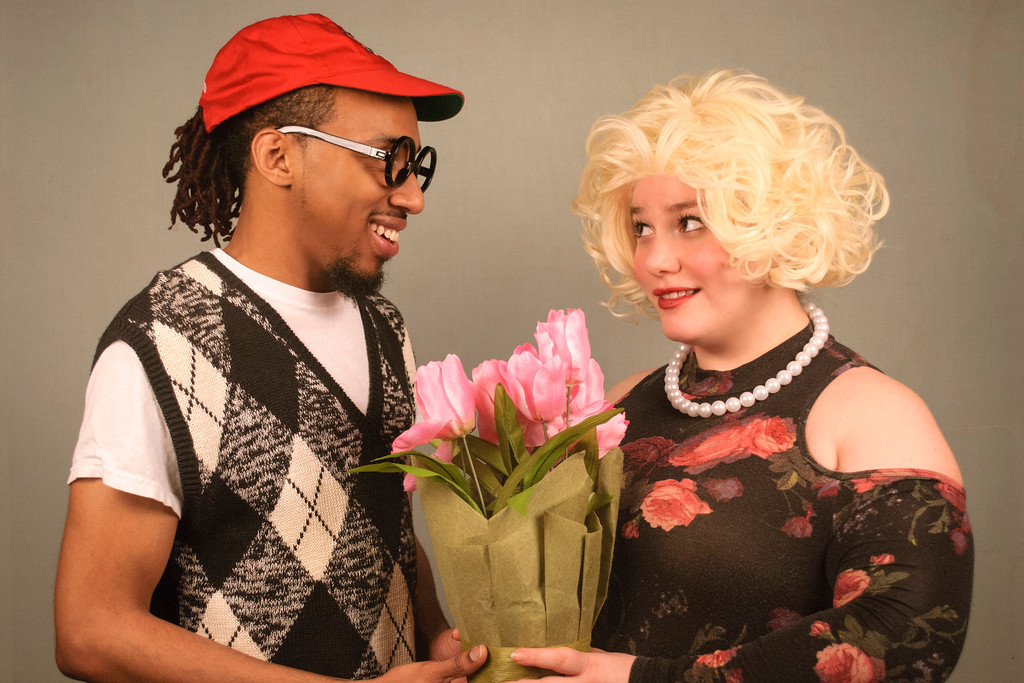 ". Nate Summers portrays Seymour, and Nina Takacs is Audrey in CVLT�s �Little Shop of Horrors.� The show continues through April 22. For more information, visit <a href=""http://www.cvlt.org/87thSeason/littleshop.php\"">cvlt.org/87thSeason/littleshop.php</a>. (Courtesy of The Chagrin Valley Little Theatre)"