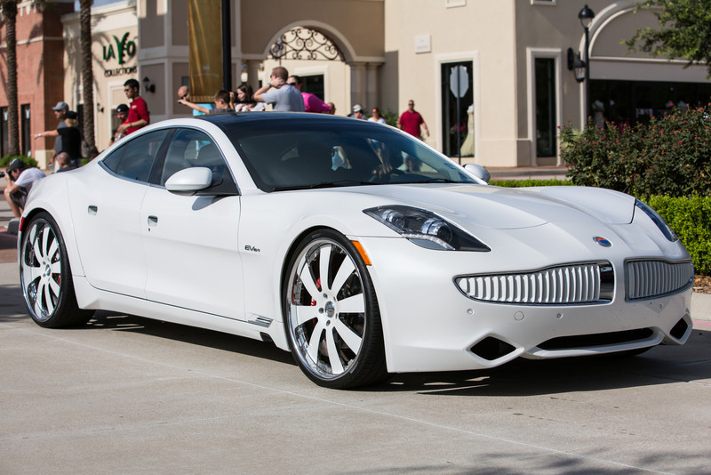 2012 Fisker Karma at Cars and Coffee Houston, Texas Vintage Park