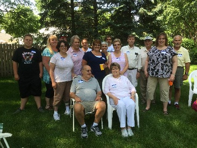 Skinner clan at family reunion - 6/16