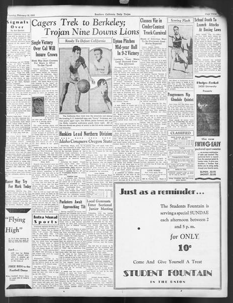 Daily Trojan, Vol. 24, No. 87, February 16, 1933