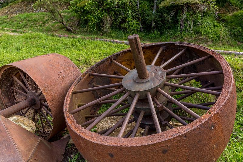Reste des Goldrausches der in Karangahake 1875 begann