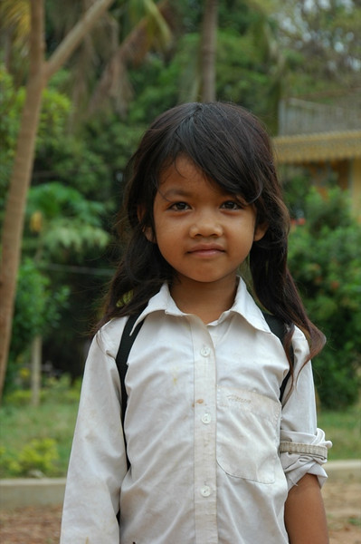 Shy Little Girl - Battambang, Cambodia