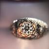0.94ctw Vintage Old European Cut Diamond Dome Ring, Center OEC (GIA .59ct G SI2) 9