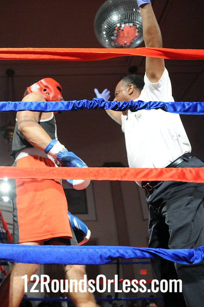 Bout 7 Chandler Clements, United Boxing Team, Cleveland -vs- Sir-William Cofield, PAL-Thurogood/Cleveland, 141 lbs, Novice