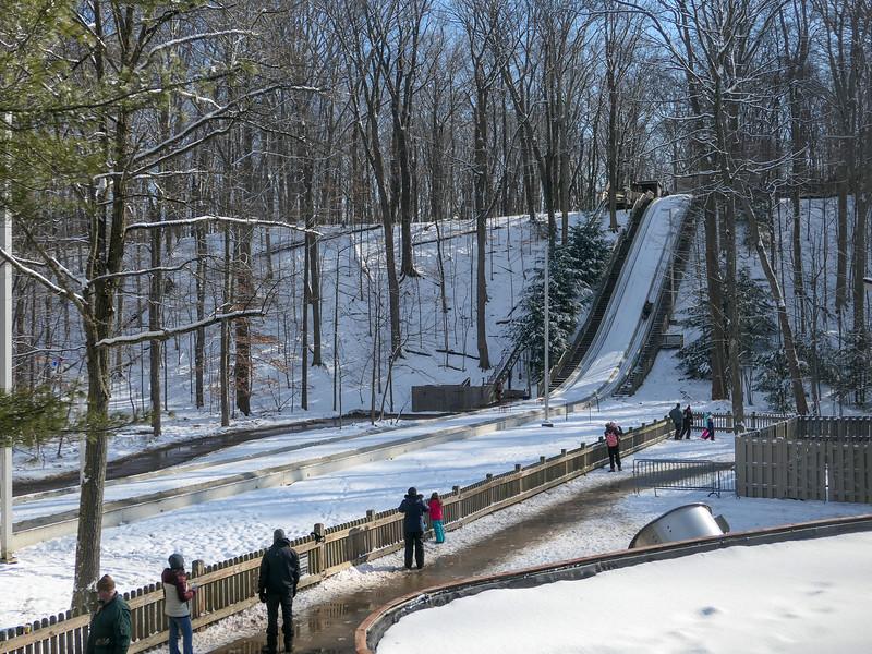 Cleveland Metroparks toboggan chutes in Strongsville