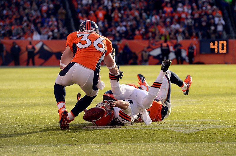 . Cleveland Browns wide receiver Josh Cooper (88) can\'t complete a catch during the first quarter.  The Denver Broncos vs Cleveland Browns at Sports Authority Field Sunday December 23, 2012. John Leyba, The Denver Post