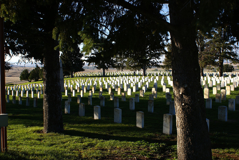 Little Big Horn National 7th cavalry cemetery.the 7th continues to this day.
