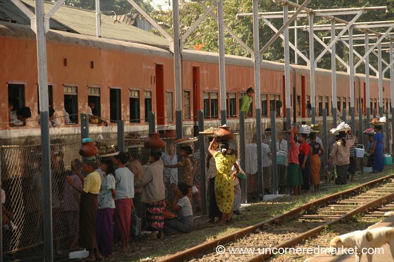 Vendors at the Train Station - Toungoo, Burma
