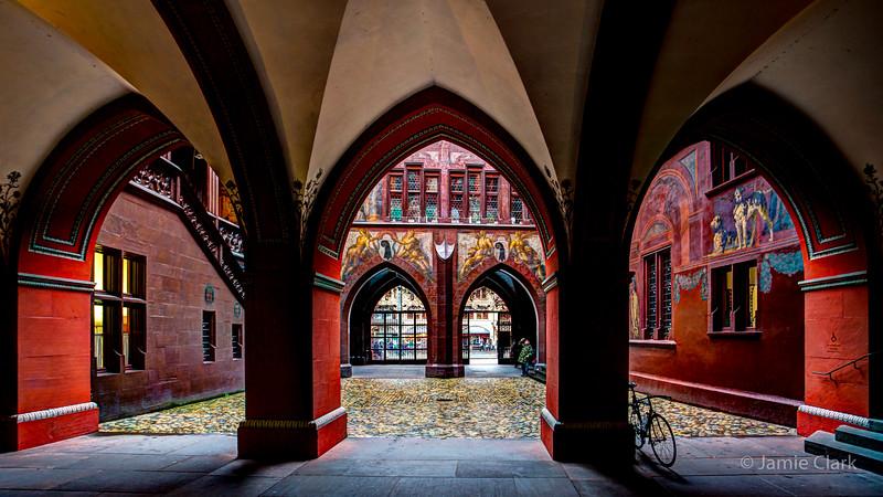 Basel Rathaus Courtyard