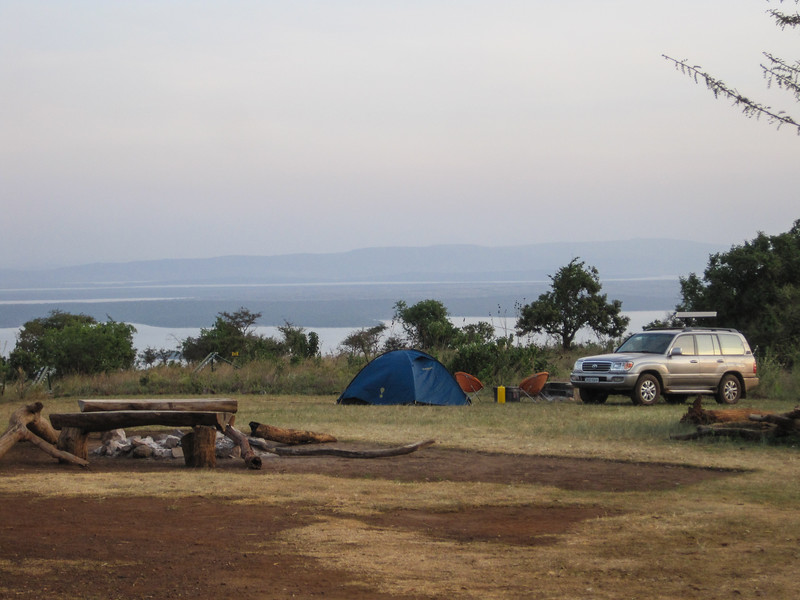 Home from home...camping in Muyumbu Campsite in Akagera National Park. We had it to ourselves