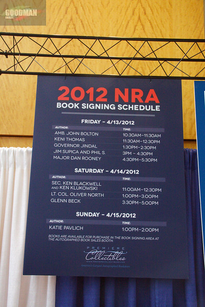 Oliver North Book Signing @ NRA 2012