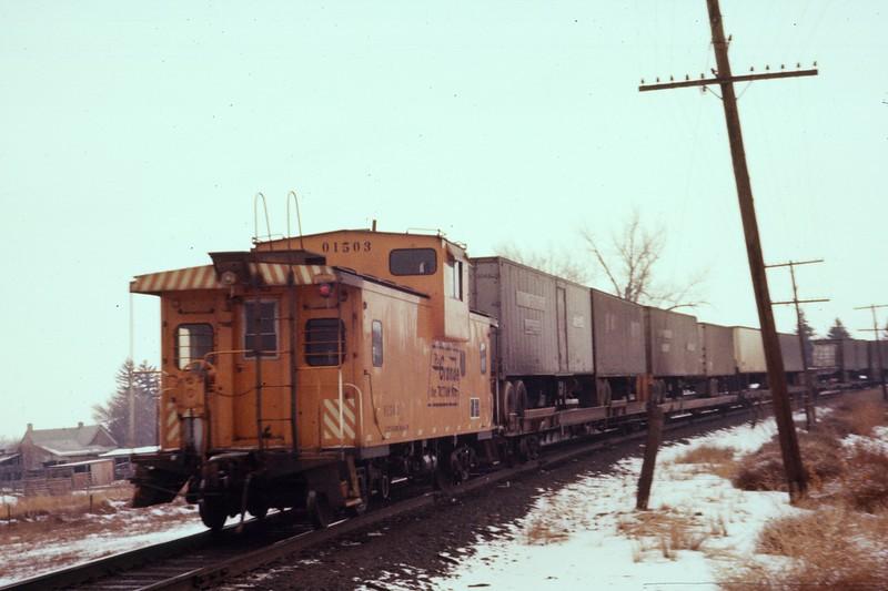 Caboose 01503. January 1980. (Dave England Photo)