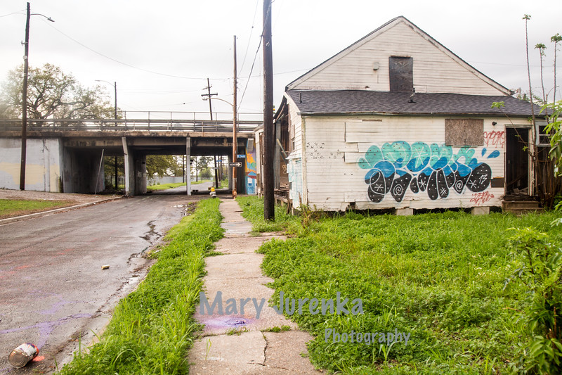 This was taken in 2015-10 years after the levees broke and flooding devastated the lower 9th Ward in New Orleans.