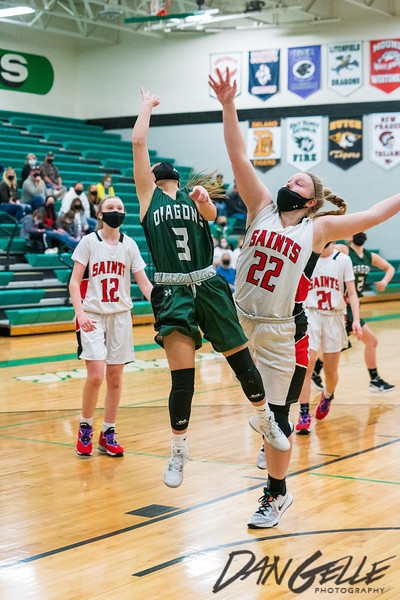 Dragons Girls Basketball vs St. James