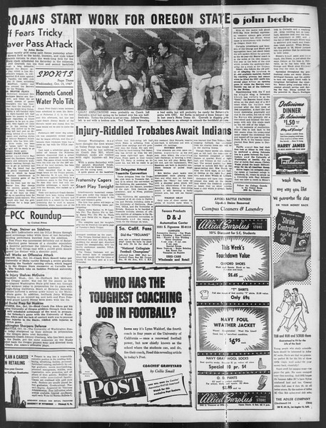 Daily Trojan, Vol. 39, No. 23, October 15, 1947