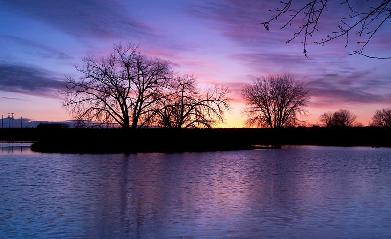 Mary's Lake, sunrise