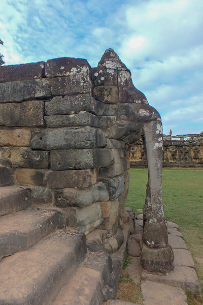 Elephant Terrace, Siem Reap, Cambodia - December, 2017