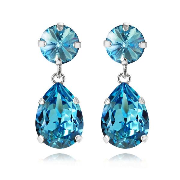 Mini Drop Earrings : Light Turqouise Rhodium.jpg