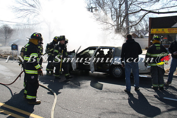 Copiague F.D. Vehicle Fire Wilson Ave & Montauk Hwy 3-22-13