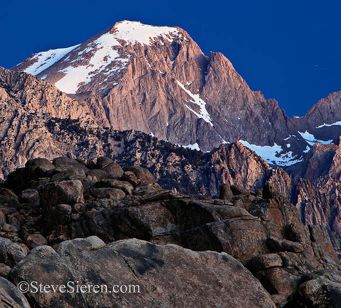 Trojan Peak on the Sierra Crest Sierra Nevada Range, California  Almost a 14,000 foot peak, only shy by a foot.