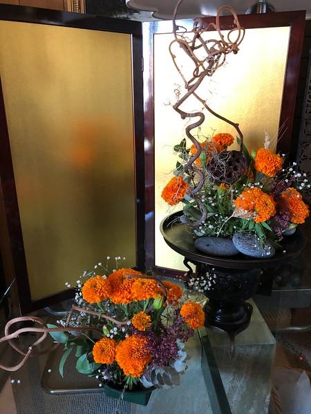 Floral arrangement in my studio